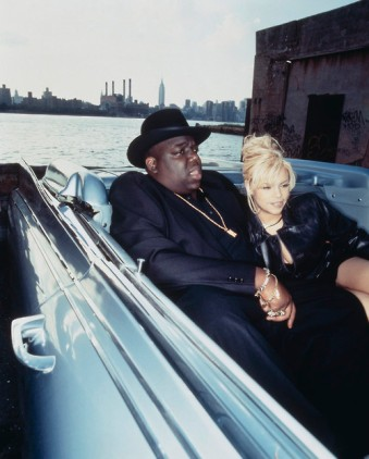 New York, New York, USA --- Rapper Notorious B.I.G. and his Wife Faith Evans --- Image by © Eric Johnson/CORBIS OUTLINE